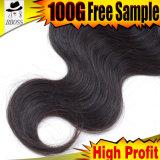 Волосы девственницы 50 дюймов с индийской объемной волной волос 6A