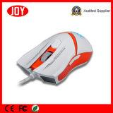 Óptico de respiración colorido de los botones LED del ratón 3200dpi 6 del juego atado con alambre