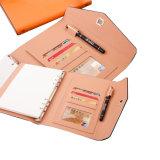 Высокий класс бизнес связаны со спиральными ноутбук из натуральной кожи для подарков