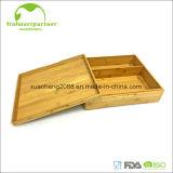 Personalizar el logotipo grabado láser de madera de bambú Caja de regalo