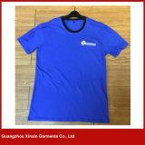 T-shirts unisexes de plaine ronde en gros de collet (R84)
