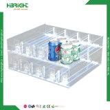 Frasco de plástico bebida pilão de prateleira de cigarros no sistema