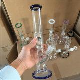 Venda por grosso de vidro reto de 5 mm do tubo de água do tubo de bolha de fumar