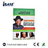 Буклет LCD 7.0 дюймов видео- для правительства Нигерии