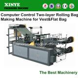 De Rolling Plastic Vlakke Zak die van de Zak van de T-shirt Machine maken