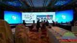 Grande étape de la Conférence de l'écran à affichage LED pour l'éclairage & HD Video Show P3