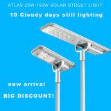 1つのプロジェクトのための高い明るさの良質の太陽LEDの街灯すべて
