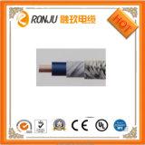 Isolamento de PVC com núcleo de cobre do fio blindado