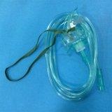 Máscara de oxígeno portable barata modificada para requisitos particulares fábrica del equipamiento médico (verde/transparentes)