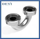 En acier inoxydable avec filetage femelle sanitaires coude avec les extrémités de l'Union (DY-E019)
