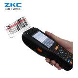 Collettore di dati senza fili Android robusto del calcolatore tenuto in mano di Zkc PDA3505 3G WiFi GSM con la stampante