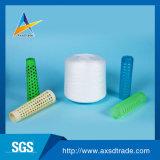 Poliester 100% del hilo de coser 20s/2, hilados de polyester hechos girar blancos sin procesar de la fábrica 50s/3 de Hubei de la alta calidad