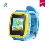 Reloj elegante del GPS del teléfono de los niños con el control remoto