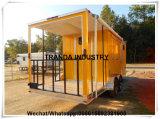 De elektrische die Bestelwagens van het Voedsel van de Lunch van de Kar van de Hotdog van de Straat met Veranda in China wordt gemaakt