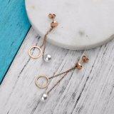 新しいデザイン優秀な品質の優雅な真珠のイヤリングのステンレス鋼の宝石類