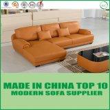 Base di sofà moderna classica europea del salone con cuoio reale