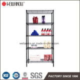 Beauty Salon gold Bathroom Used 5 Shelf Black Epoxy Coated Metal Storage Wire Rack Links for Sale