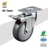 총 브레이크 산업 PU 트롤리 피마자 바퀴