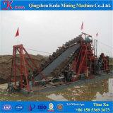 Draga del oro de la arena de la explotación minera del compartimiento de cadena