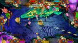 [أمريكن] ذهبيّة أسد تصويب لعبة نوع ذهب سمكة يقامر آلة