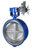 Válvula de borboleta rosqueada pneumática sanitária do aço inoxidável