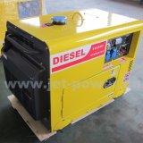 Elektrische abgekühlter leiser schalldichter beweglicher Dieselgenerator des Anfangs5kw Luft