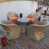 Muebles al aire libre de la rota del PE del balcón del ocio del hotel del café del club del patio del jardín