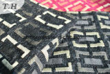 Tessuto nero della mobilia del Chenille del jacquard (FTH31150)
