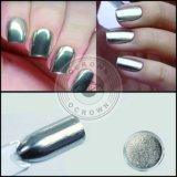 Het zilveren Poeder van het Chroom van het Gel van de Manicure van het Poeder van het Pigment van de Spiegel Glanzende Poolse