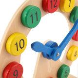 Giocattoli di legno di puzzle dell'orologio di numeri educativi dei bambini