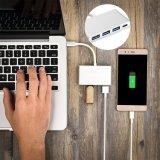 C-Nabe zu USB3.0X3 4 in 1 multi Portaluminiumlegierung-Gehäuse-Adapter für Apple MacBook Samsung S8 schreiben