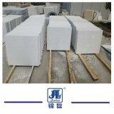 Piedra de mármol blanca como la nieve del color blanco barato para la decoración de la losa de la cocina