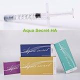 Injection cutanée de face de remplissage d'acide hyaluronique injectable secret d'Aqua