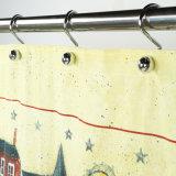 Serviço Pesado Cortina de banho de poliéster de calibre 10 para decoração de chuveiro