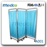 L'écran de lit en acier inoxydable pour usage médical, salle de soins infirmiers de l'hôpital de l'écran Patient pliable Ward
