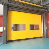 El uno mismo de la cremallera recupera la puerta rápida de alta velocidad de la cámara fría de la persiana enrrollable del PVC