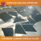 Placa do desgaste do carboneto do cromo da soldadura para o transporte