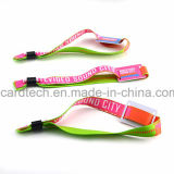 Wristband tecido tela com o bracelete tecido RFID do cartão de RFID