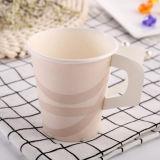 Taza de té de papel disponible del café 7oz con la maneta