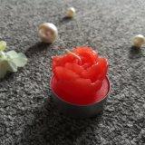 Rote Blumen-Pflanzengeformte manuelle Tealight Kerze für Dekoration