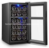 18bottles verdoppeln Zonen-thermoelektrische Wein-Kühlvorrichtung