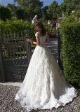 Beaded отвесное верхнее Bridal платье венчания 2018 Lb1837 шнурка мантий шарика