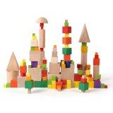 Montessori Spielzeug-bunte hölzerne Würfel-Blöcke für die Kinder, die früh Ausbildung erlernen