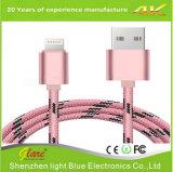 2.4A durables jeûnent câble usb de remplissage pour Iphones et tablettes