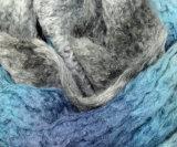 Популярным мягким акриловым связанная Mohair цветастая грелка шеи