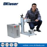 máquina de marcação a laser de metal do tipo óptico para a engrenagem da roda