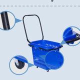 Supermarkt-Qualitäts-neuer Entwurfs-Plastikeinkaufskorb