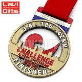 Custom cintilante de metal em pó 10K maratona em forma de coração com medalha de adjudicação