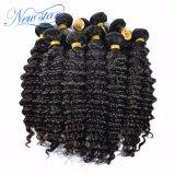 Оптовые дешевые перуанские глубокие человеческие волосы девственницы волны в большом части