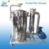 Connexion parallèle recto verso du boîtier de filtre de sac pour le filtrage de l'eau potable/l'eau minérale